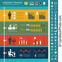 産業, infographic, それ, 要素
