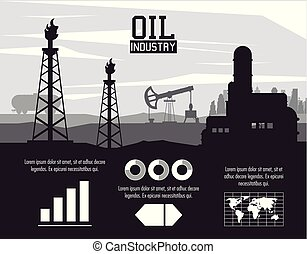 産業, infographic, オイル