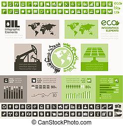 産業, infographic, テンプレート, オイル