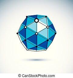 産業, poly, 次元, 建設, ベクトル, 低い, logo., 抽象的, design.