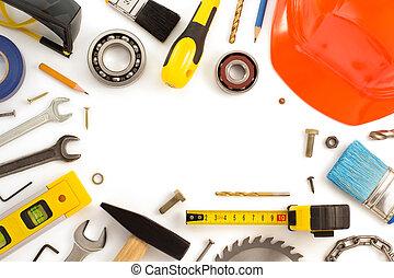 用具のセット, そして, 道具, 白