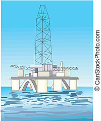 用具一式, 油田採掘, プラットホーム