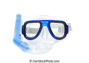 用呼吸管潛游, 設備, 在懷特上, 背景