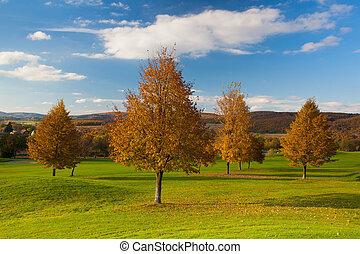 田園詩, 秋天, 風景