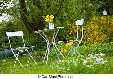 田園詩, 花園