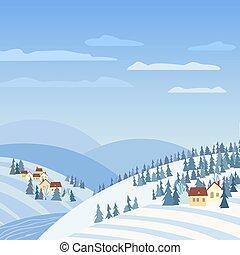 田園, 冬の景色