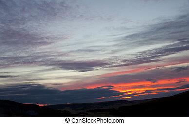 田園 場面, 日の出