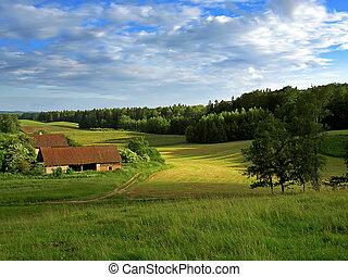 田園, 建物