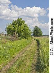 田園 景色, ∥で∥, 田舎の道路