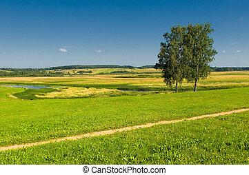 田園 景色, 2, 木