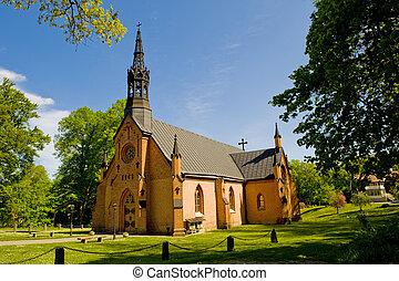 田園, lutheran, 教会, 中に, スウェーデン