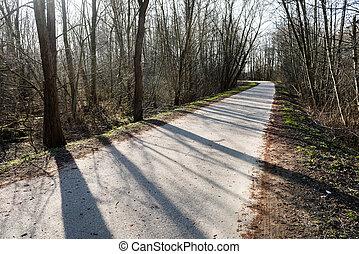 田舎の道路, ∥で∥, 見通し