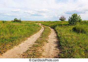 田舎の道路