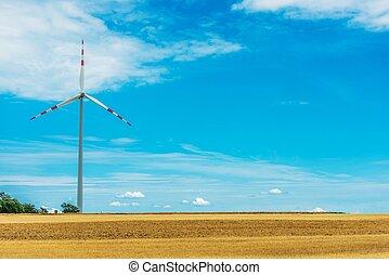 田舎, タービン, 風