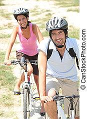 田舎, 恋人, サイクリング