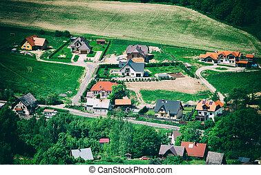 田舎, 空中写真