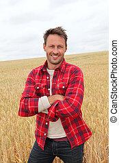 田舎, 肖像画, 微笑の人