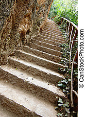 田舎, 階段