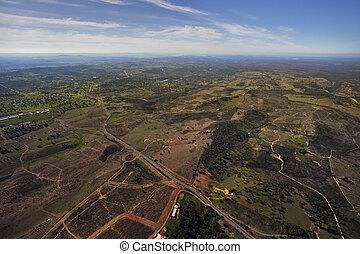 田舎, andalusia, 空中写真