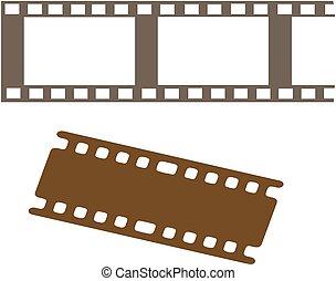 电影, 白色, 图标, 背景