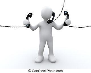电话, 支持