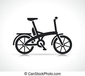 电, 小型, 自行车, 矢量, 图标