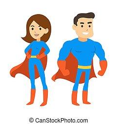 男の女性, superhero