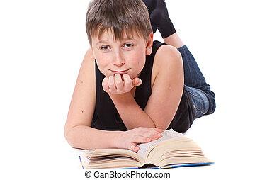 男の子の読書, 本