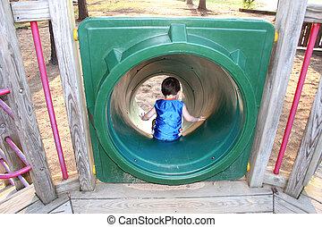 男の子の 子供, 公園