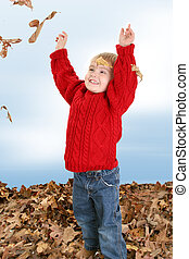 男の子の 子供, 葉