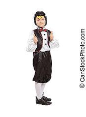 男の子, かなり, ペンギン, 衣装, わずかしか