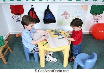 男の子, ∥において∥, 幼稚園