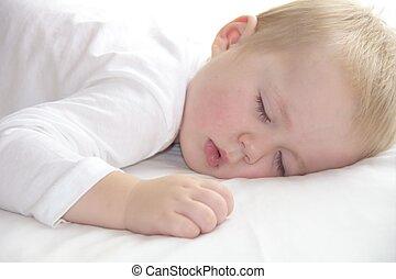 男の子, わずかしか, 古い, napping, 1(人・つ), 年, よちよち歩きの子