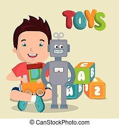 男の子, わずかしか, 特徴, 遊び, おもちゃ