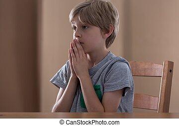 男の子, わずかしか, 祈ること