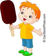 男の子, アイスクリーム