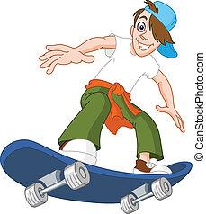 男の子, スケートボード