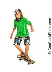 男の子, スケートボード, ティーネージャー