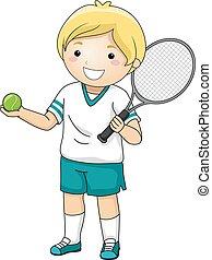 男の子, テニス