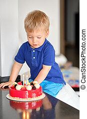 男の子, バースデーケーキ
