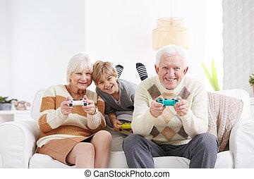 男の子, ビデオゲーム, 遊び