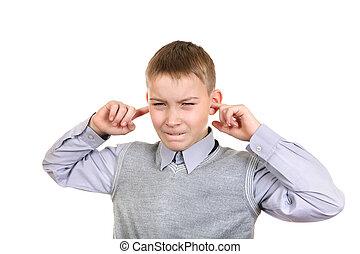 男の子, プラグ, ∥, 耳