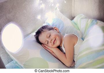 男の子, ベッド