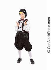 男の子, ペンギン, すてきである, 衣装, わずかしか