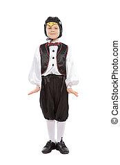 男の子, ペンギン, 衣装, 美しい, わずかしか