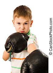 男の子, ボクシング用グラブ