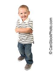 男の子, ユーモラスである, 若い, 顔, 愚か, 作成, 幸せ