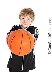 男の子, 保有物, a, バスケットボール