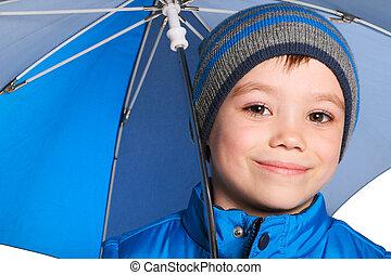男の子, 傘