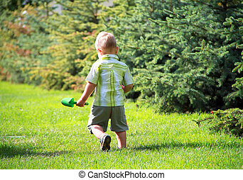 男の子, 公園